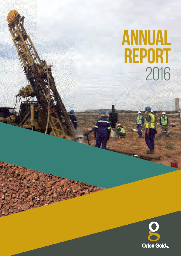 Orion Minerals   annual report
