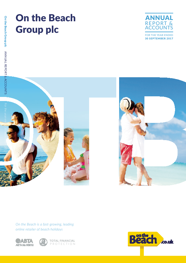 On The Beach Group Plc   annual report