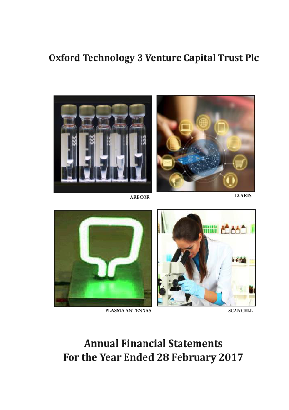 Oxford Technology 3 VCT Plc   annual report