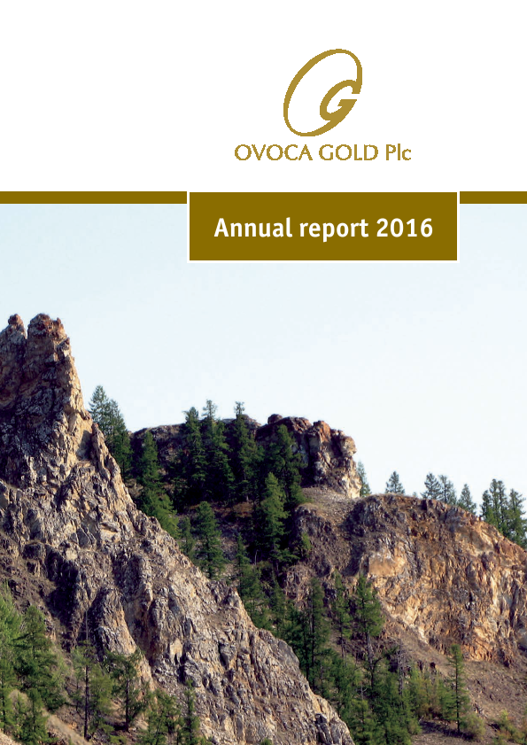 Ovoca Gold   annual report