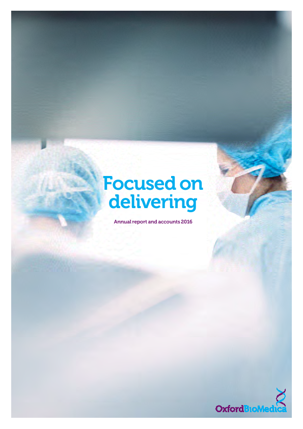Oxford Biomedica Plc   annual report