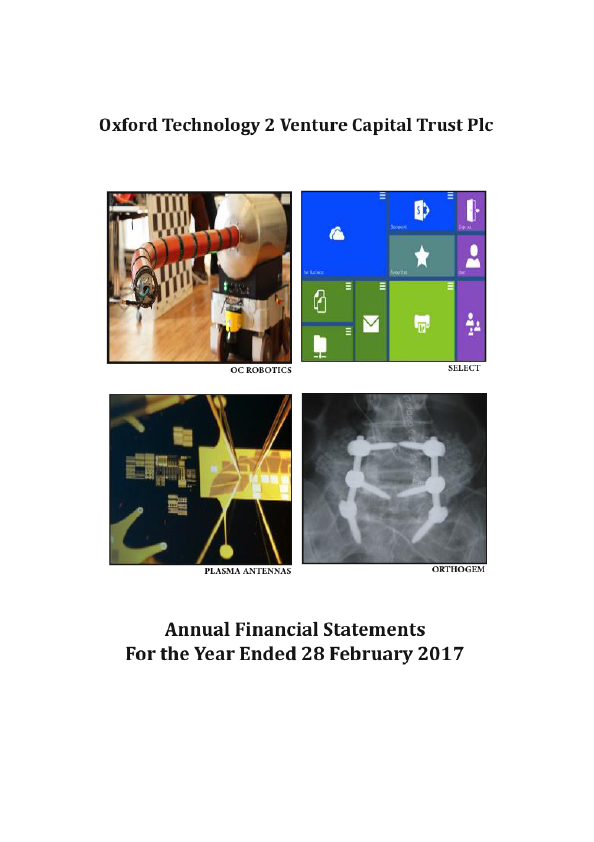 Oxford Technology 2 VCT   annual report
