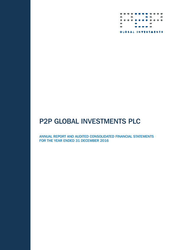 P2P Global Investments Plc   annual report