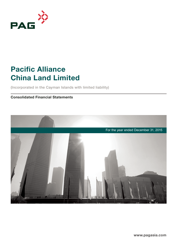 Pacific Alliance China Land   annual report