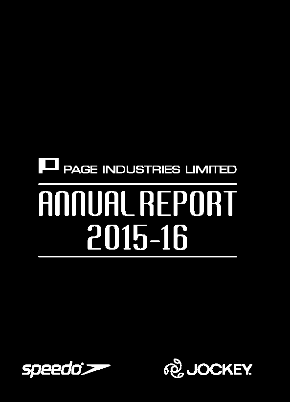 Page Industries   annual report