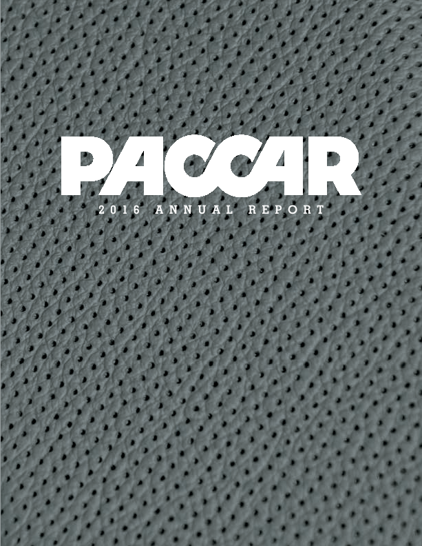 PACCAR Inc.   annual report