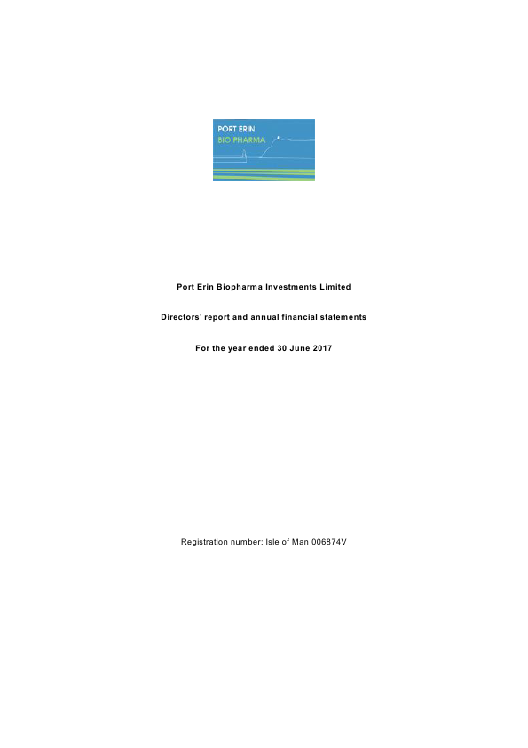 Port Erin Biopharma Investments   annual report