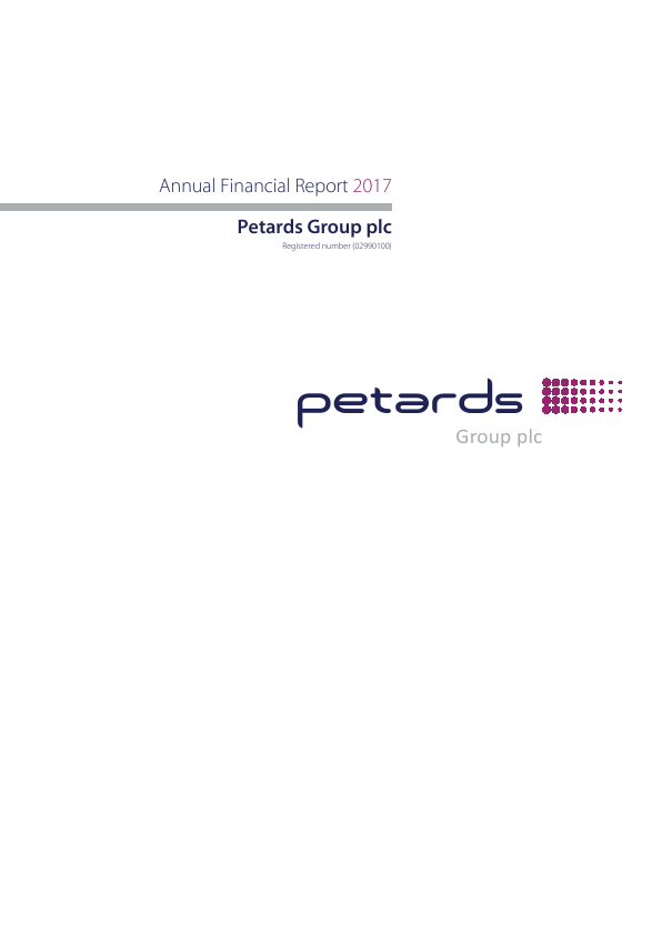 Petards Group   annual report