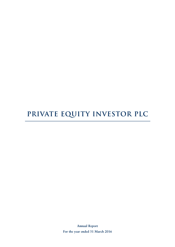 Private Equity Investor   annual report