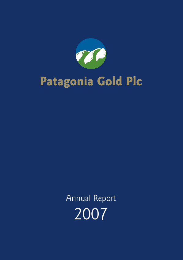 Patagonia Gold   annual report