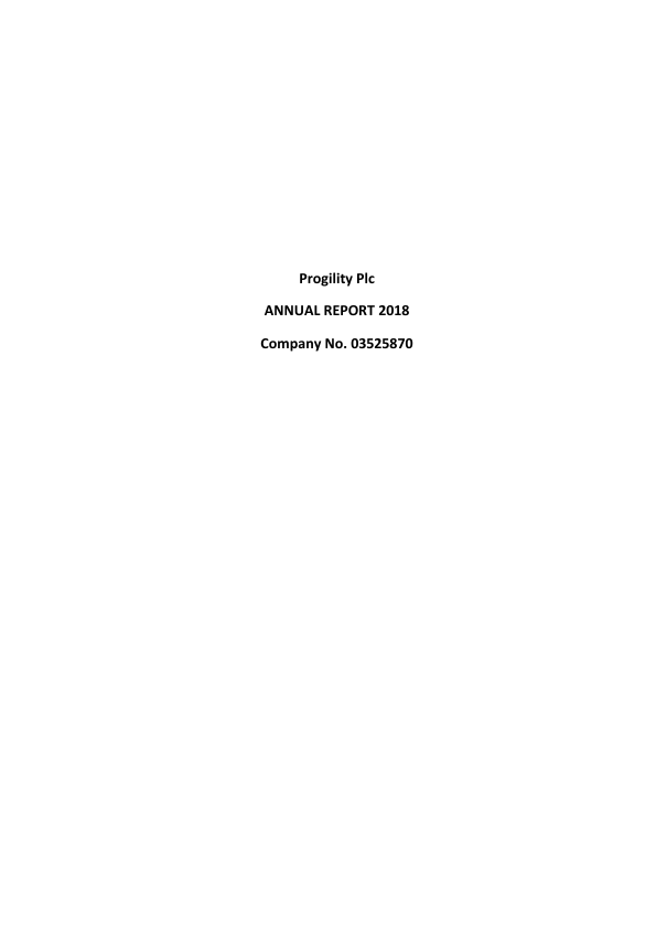 Progility Plc   annual report