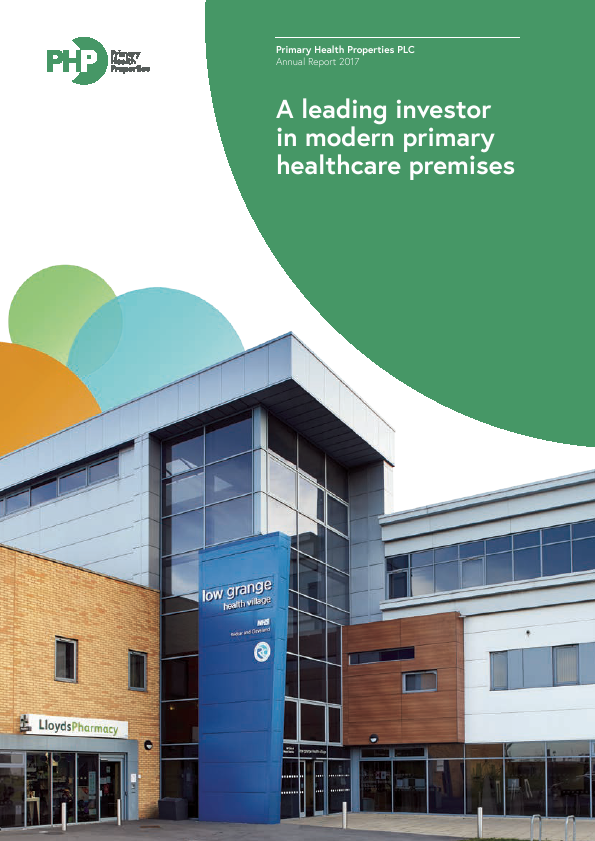 Primary Health Properties   annual report