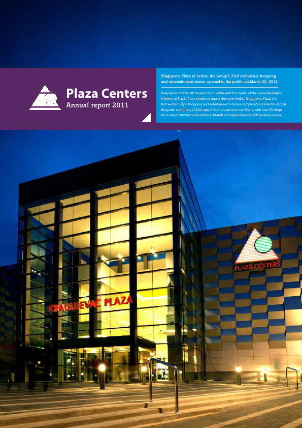 Plaza Centers NV   annual report