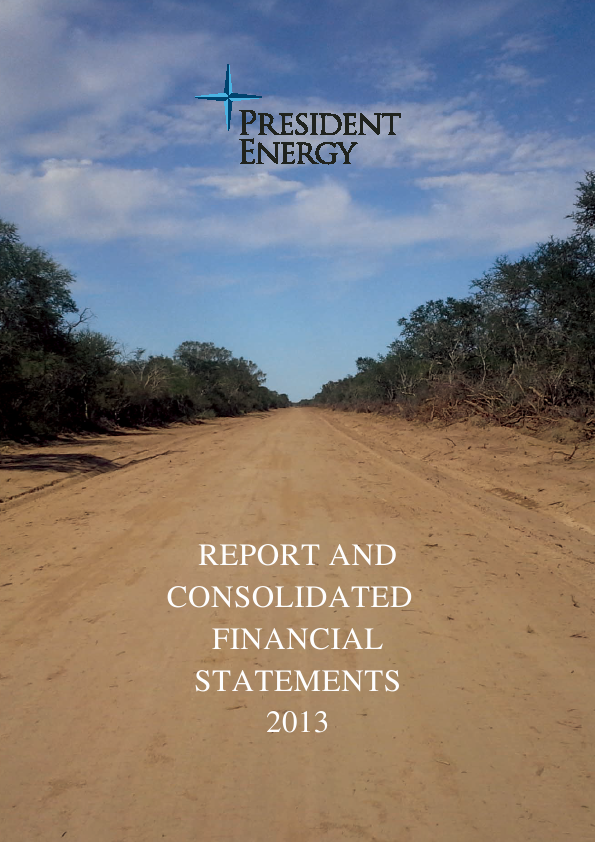 President Energy Plc   annual report