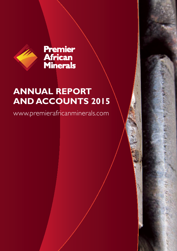 Premier African Minerals   annual report