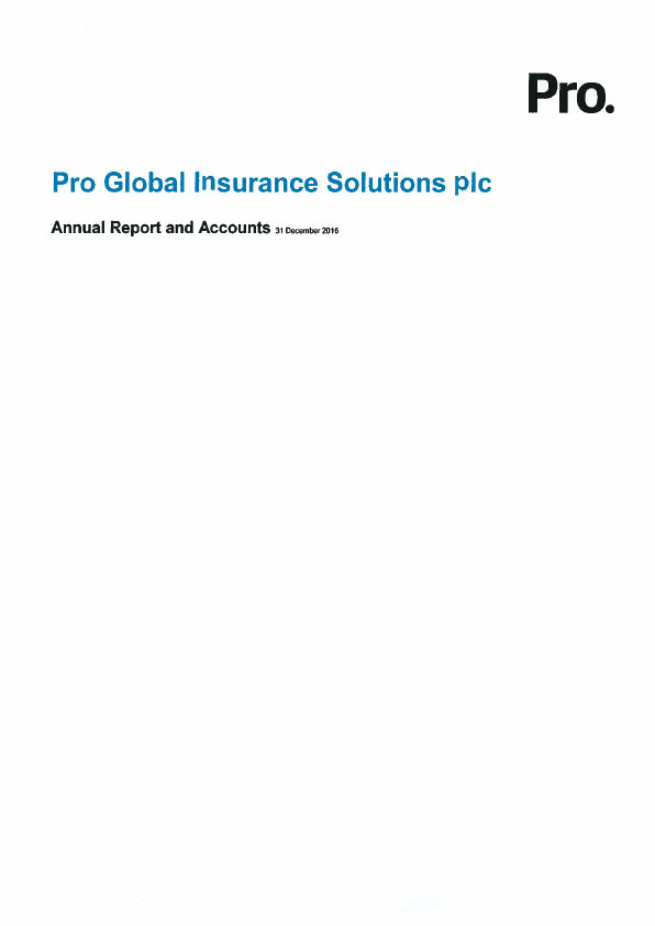 Pro Global Insurance Solutions Plc   annual report