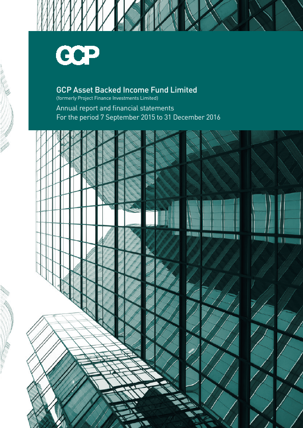 GCP Asset Backed Income Fund (previously Project Finance Investments )   annual report