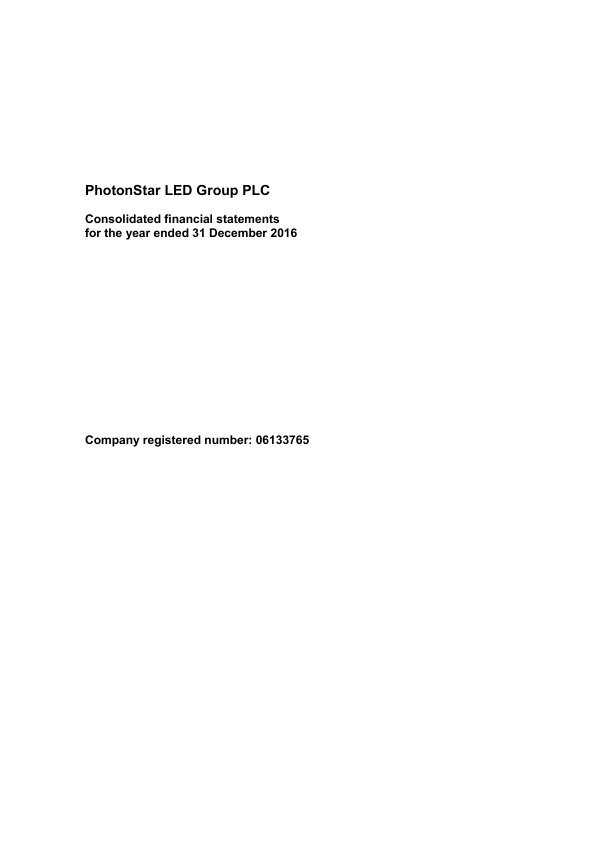 Photonstar Led Group Plc   annual report