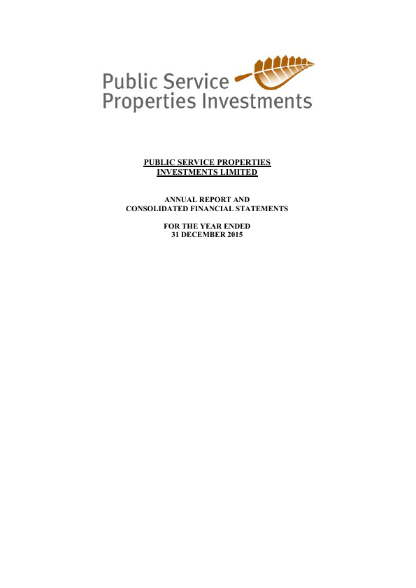 Public Service Properties Investmnt   annual report