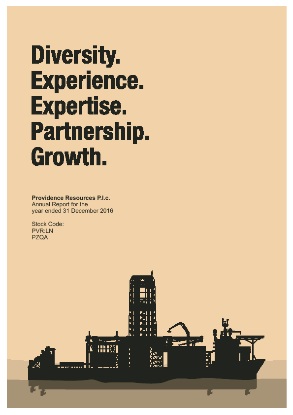 Providence Resources   annual report