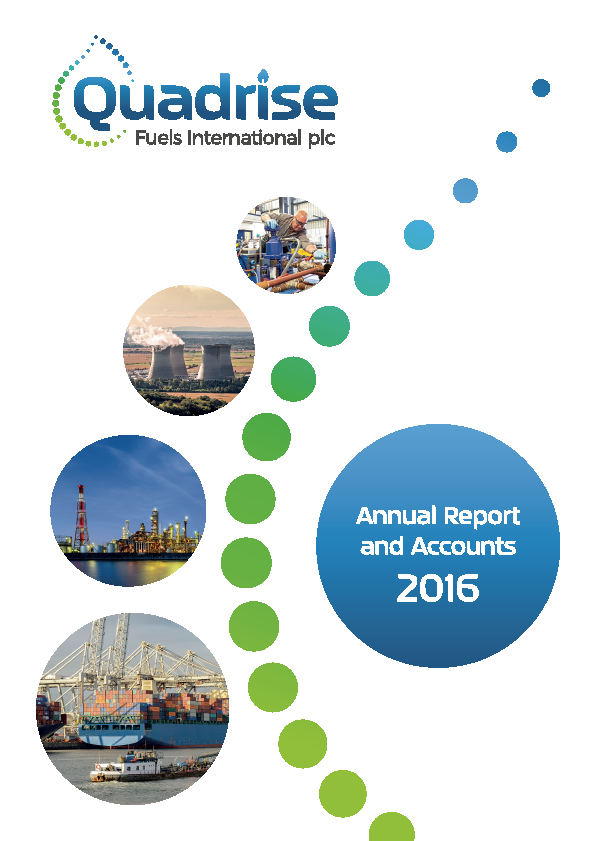 Quadrise Fuels International   annual report