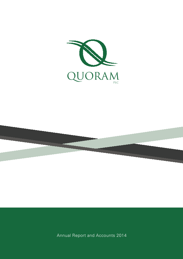 Quoram Plc   annual report