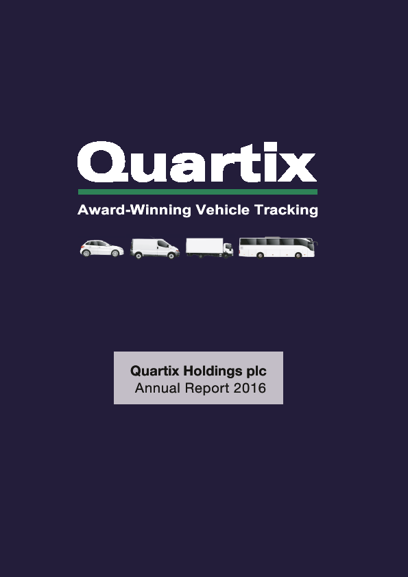 Quartix Holdings Plc   annual report