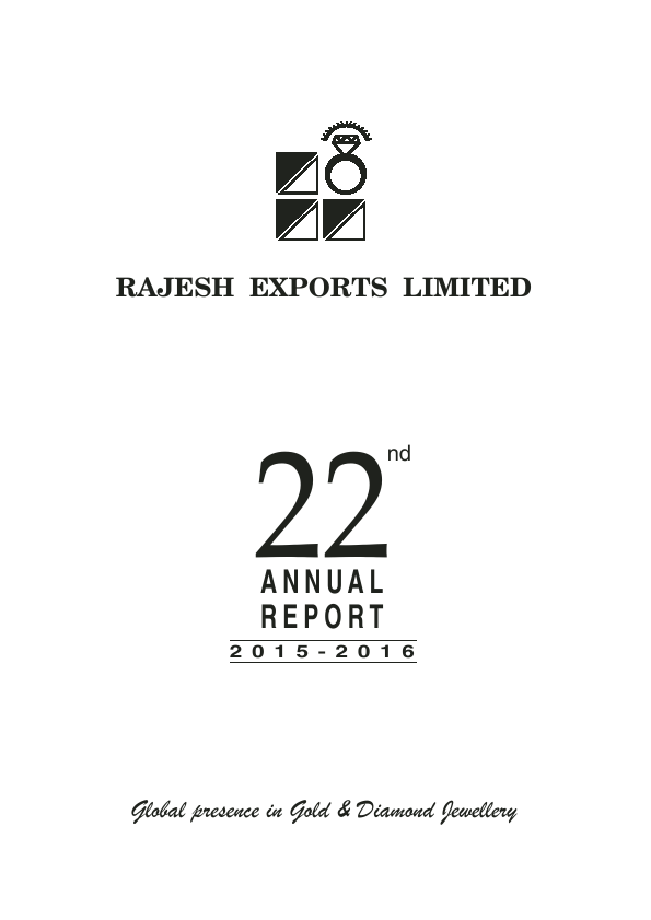 Rajesh Exports   annual report