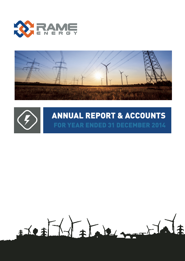 Rame Energy Plc   annual report