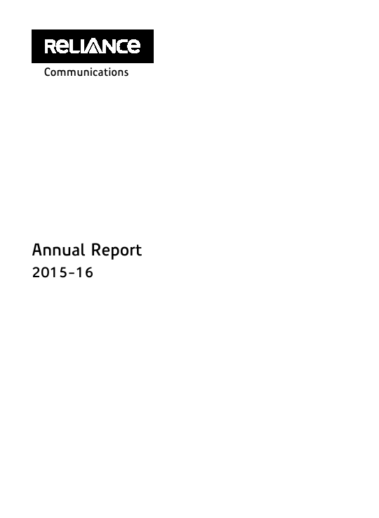 Reliance Communications   annual report
