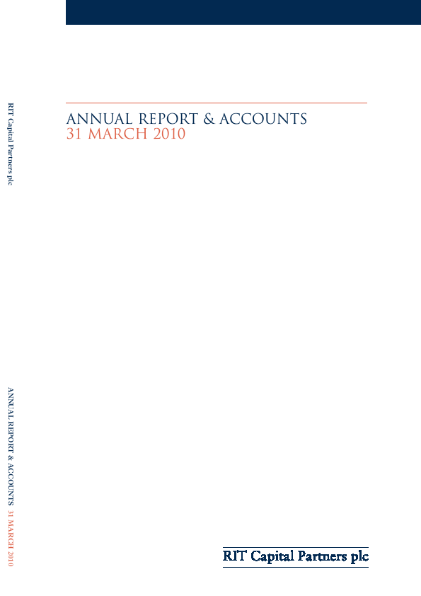 RIT Capital Partners   annual report