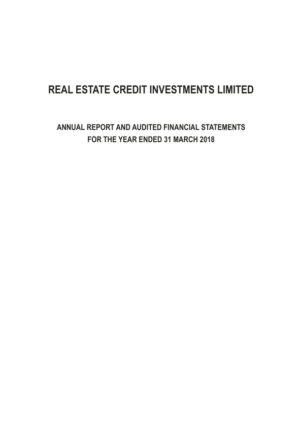Real Estate Credit Investments PCC   annual report
