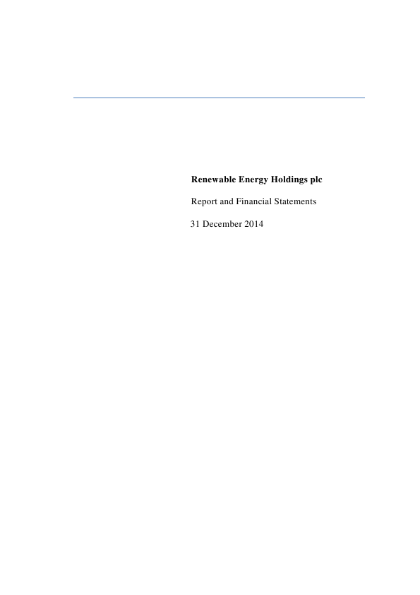 Renewable Energy Generation   annual report