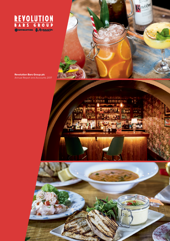 Revolution Bars Group Plc   annual report
