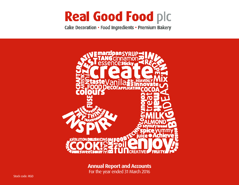 Real Good Food Plc   annual report