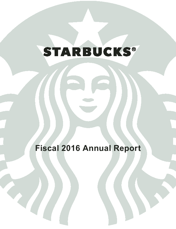 Starbucks Corporation   annual report