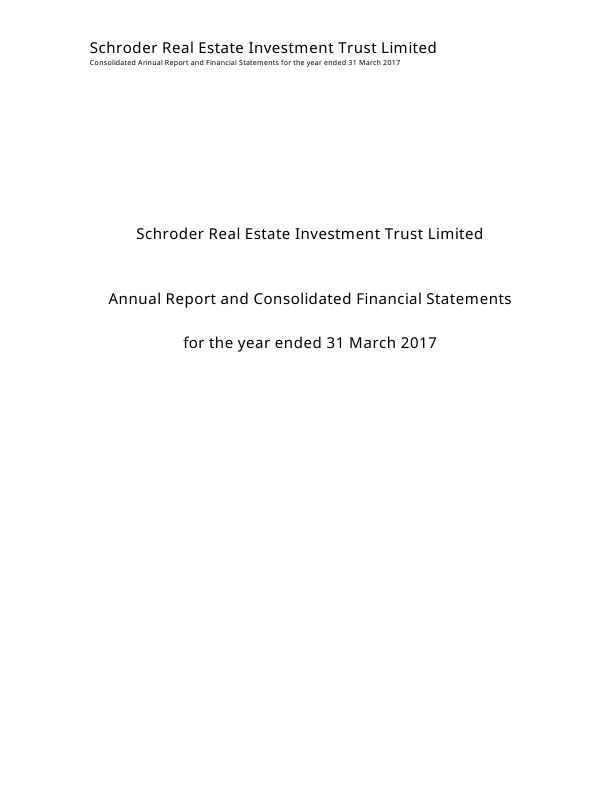 Schroder European Real Estate Investment Trust   annual report