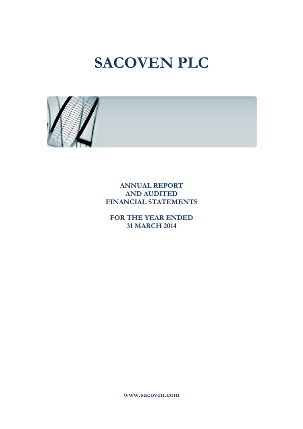 Sacoven Plc   annual report