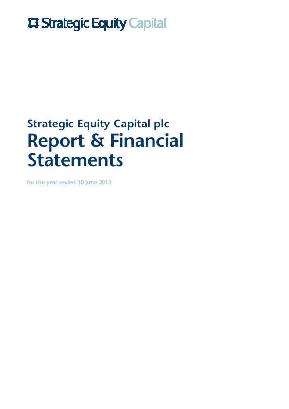 Strategic Equity Capital   annual report