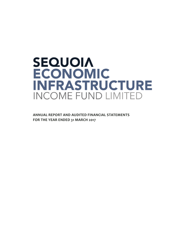 Sequoia Economic Infrastructure Income Fund   annual report