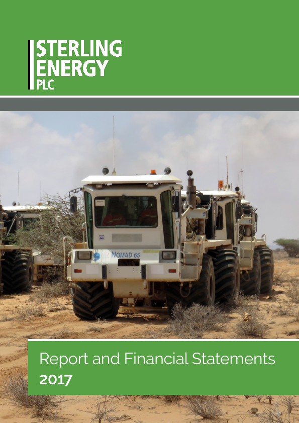 Sterling Energy   annual report