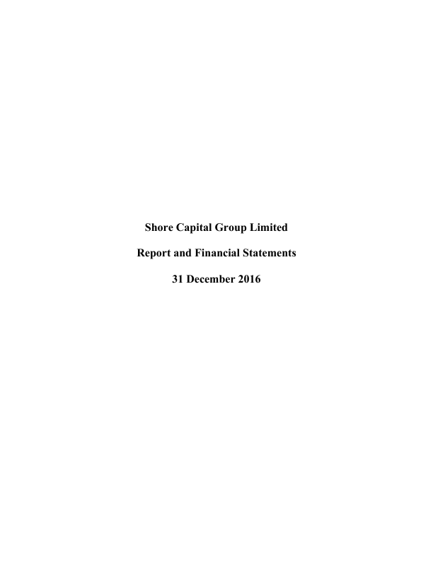 Shore Capital Group   annual report