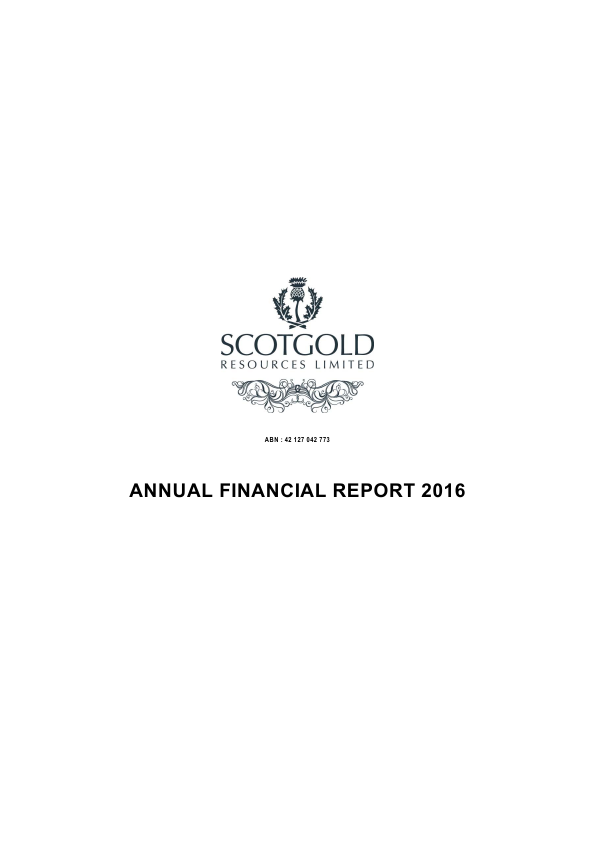 Scotgold Resources Ltd   annual report