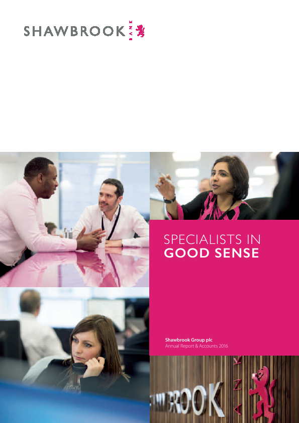 Shawbrook Group Plc   annual report