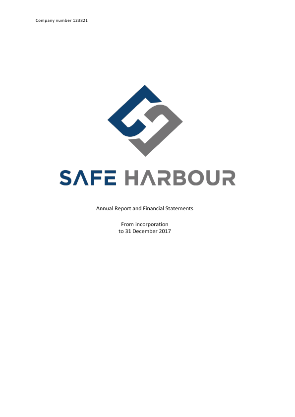 Safe Harbour   annual report