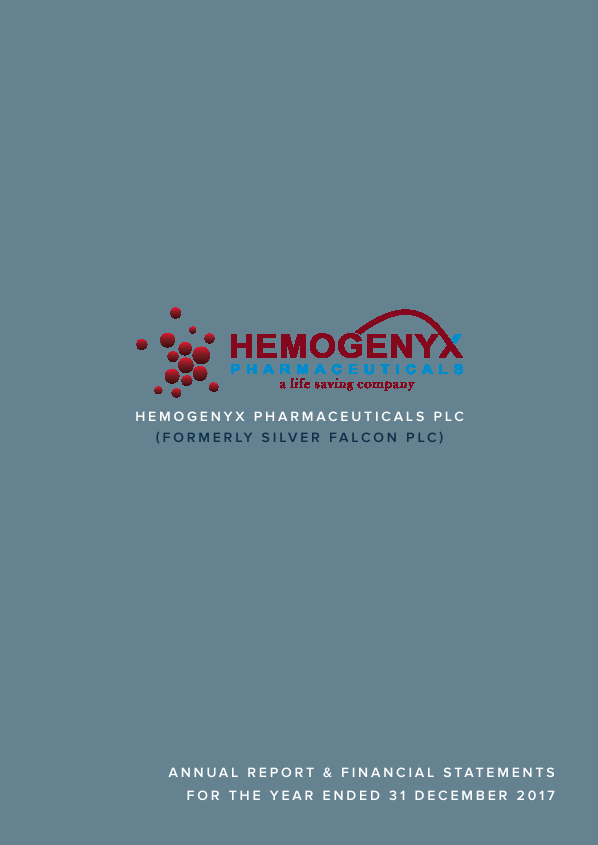 Hemogenyx Pharmaceuticals (Previously Silver Falcon)   annual report