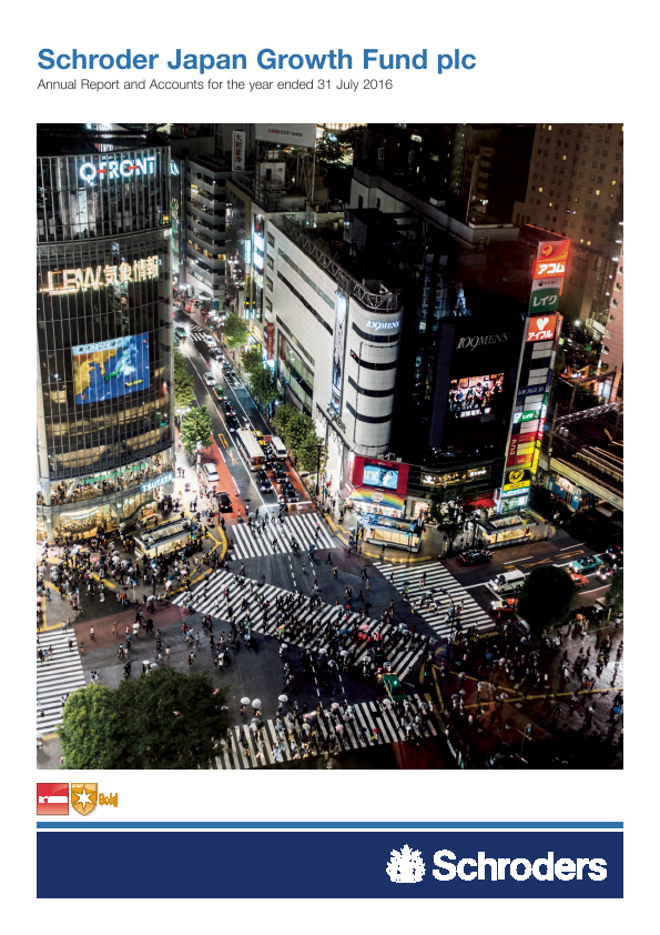 Schroder Japan Growth Fund   annual report