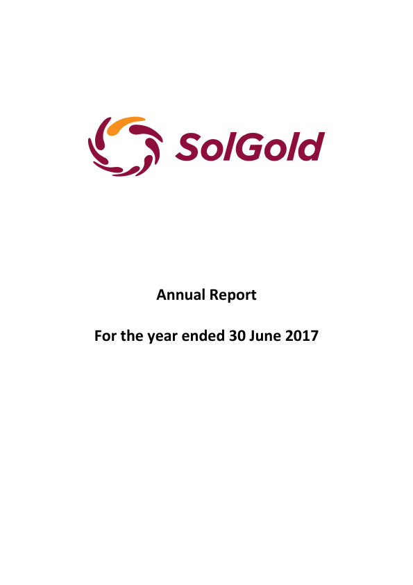 Solgold Plc   annual report