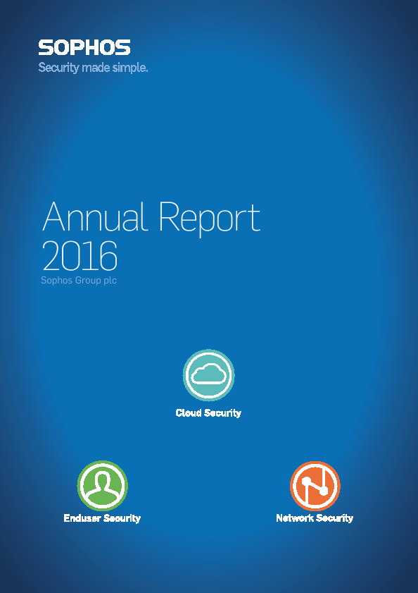 Sophos Group Plc   annual report