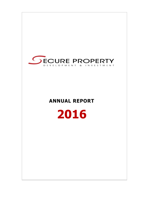 Secure Property Dev & Inv Plc   annual report